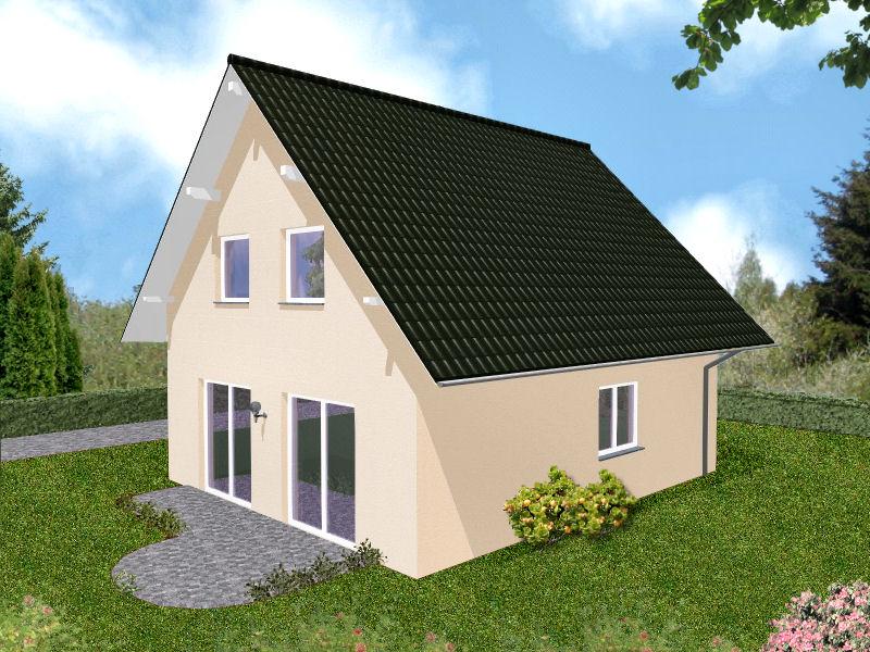 Haus mit Putzfassade