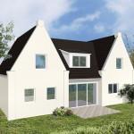 Einfamilienhaus Wilna - Variante mit Putzfassade - Terrassenseite