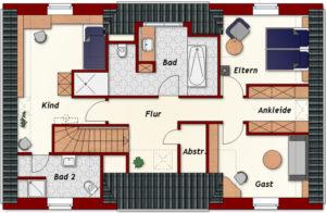 Einfamilienhaus Wilna - Dachgeschoss