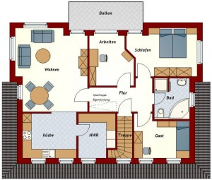 Zweifamilienhaus Ammerland - Dachgeschoss