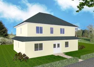 Zweifamilienhaus Friesland - Variante mit Putzfassade - Eingangsseite