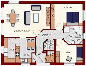 Zweifamilienhaus Friesland - Erdgeschoss