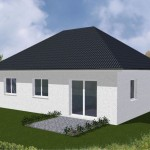 Bungalow Cuxhaven - Variante mit Putzfassade - Terrassenseite