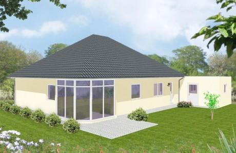 Bungalow Stade - Variante mit Putzfassade - Terrassenseite
