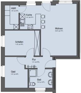 Siebenfamilienhaus Erdgeschoss