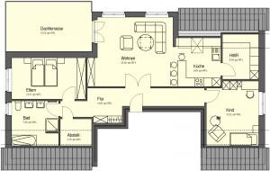 Siebenfamilienhaus Dachgeschoss