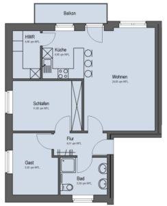 Siebenfamilienhaus Obergeschoss