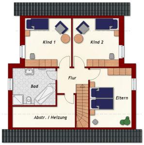 Einfamilienhaus Dazig - Dachgeschoss