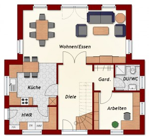 Einfamilienhaus Dazig - Erdgeschoss