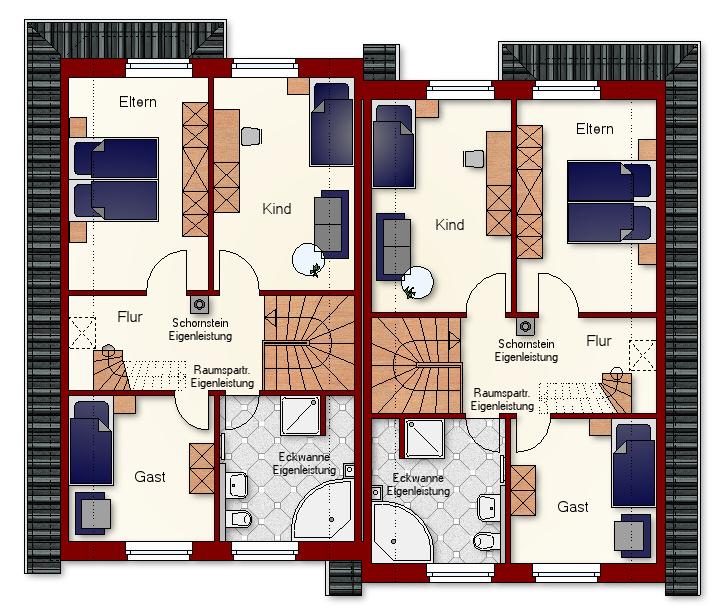 Doppelhaus Cloppenburg - Dachgeschoss