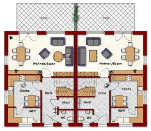 Doppelhaus Amalienburg - Erdgeschoss