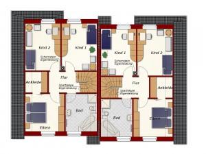 Doppelhaus Rotenburg - Dachgeschoss