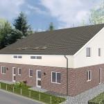 Doppelhaus Papenburg - Variante mit Putz/ Verblender - Eingangsseite