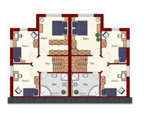 Doppelhaus Papenburg - Dachgeschoss