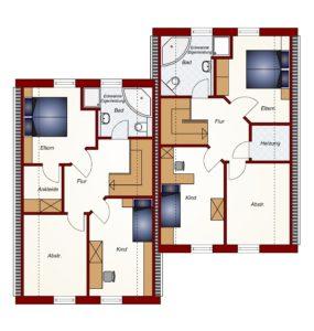 Doppelhaus Oldenburg - Dachgeschoss