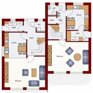 Doppelhaus Oldenburg - Erdgeschoss