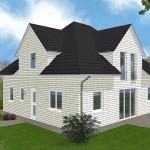 Einfamilienhaus Stralsund - Variante mit weißem Verblender - Eingangsseite