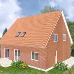 Einfamilienhaus Königsberg - Variante mit orange Verblender
