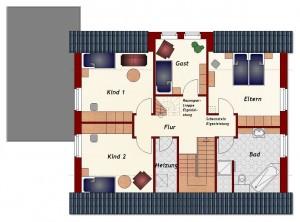 Einfamilienhaus Riga - Dachgeschoss