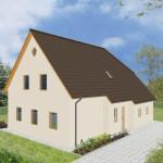 Einfamilienhaus Emden - Variante mit Putzfassade - Eingangsseite